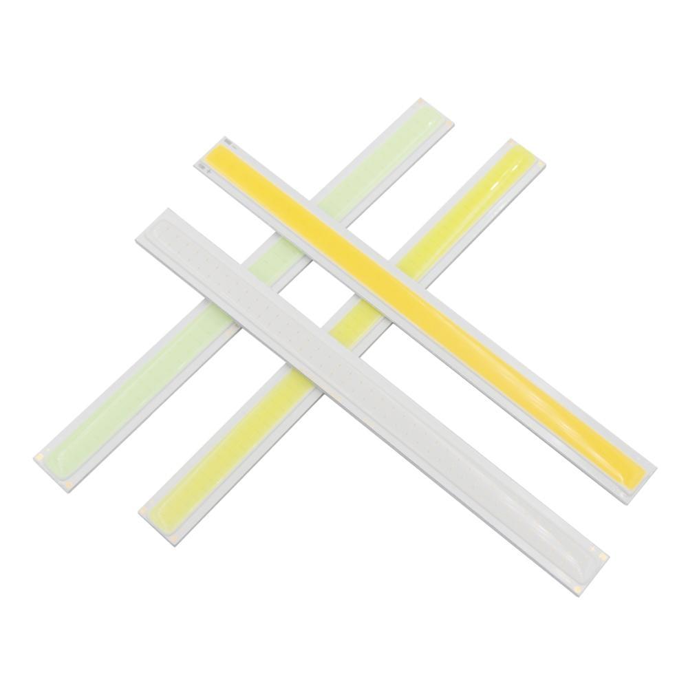 Купить с кэшбэком hot sale big discount daytime RUN light LED COB Strip Light 170mmx15mm 12V DC 6W Warm White Cool Blue LED FLIP Chip for DIY