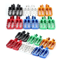 CNC Aluminum Alloy Pit Bike Foot Pegs Rests Footpegs For MX CRF50 XR50 PW50 PW80 KLX110 TTR50