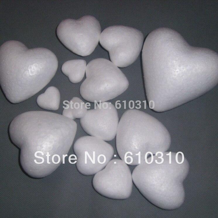 Free shiping 25/40/45/94 foam heart assortment painted wedding decoration valentine's day styrofoam heart (50pcs/lot)