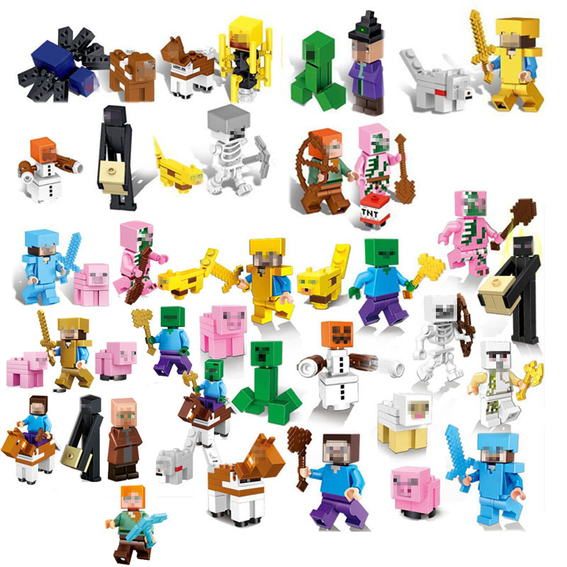 Building Blocks  Minecrafted  LegoINGLYS My world Figure Kids Educational Toys For Children GiftBuilding Blocks  Minecrafted  LegoINGLYS My world Figure Kids Educational Toys For Children Gift
