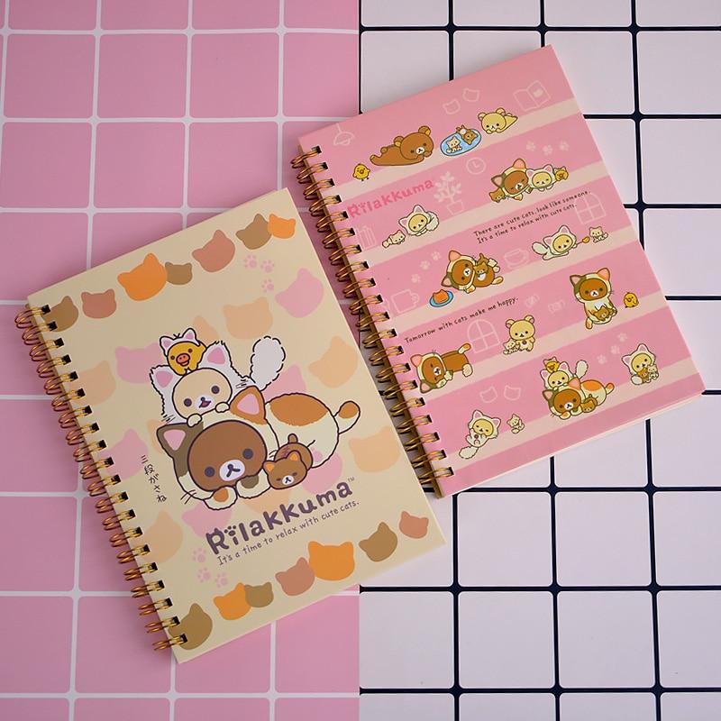 Kawaii Japan Cartoon Rilakkuma Notebook Diary Agenda Pocket Book Office School Supplies Japan Stationer Cute Notebook For Kids