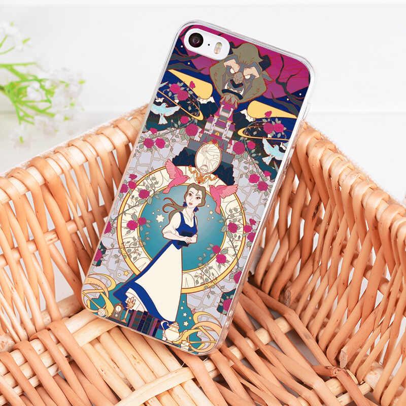 Yinuoda สำหรับ iphone 7 6 X ความงาม Beast Rose Princess สำหรับ iphone 6 วินาที 6 plus 7 7 plus 8 8 Plus X 5 วินาที XR XS MAX