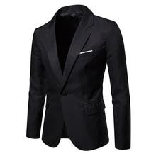Laamei 2019 Новый Мужской Блейзер пиджак тонкий мужской пиджак в повседневном стиле хлопок Slim Fit костюм Blaser Masculino мужской пиджак блейзер для мужчин