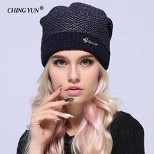 Nuevo invierno mujer de punto sombreros de señora calientes diamante sólido  grueso niñas hilo de oro de alta calidad de lana Muj. a0658eebb27c