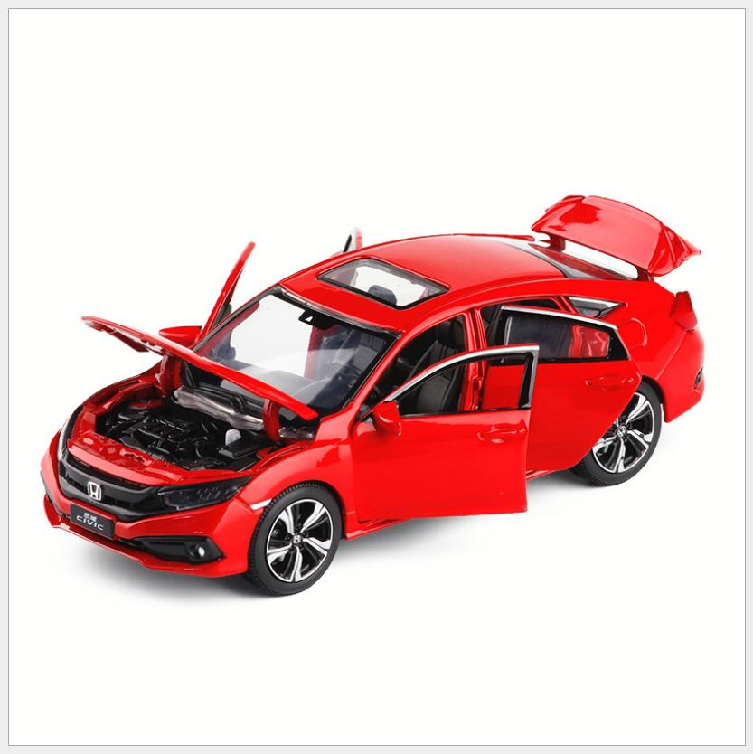 1:32 High Simulation Civic  Car Model,6 Open Door Simulation Sound And Light Toys,new Products Hot
