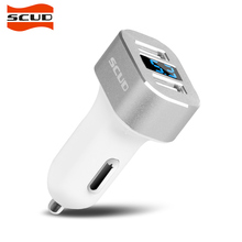 SCUD Car Charger 2 Ports Dual USB 5V Mobile Phone Car-Charger Quick Charge QC3.0 for iPhone 5/6/7 Xiaomi Samsung LG scud car charger dual usb output 2 4a fast charging mobile phone travel adapter for iphone samsung galaxy xiaomi htc car charge