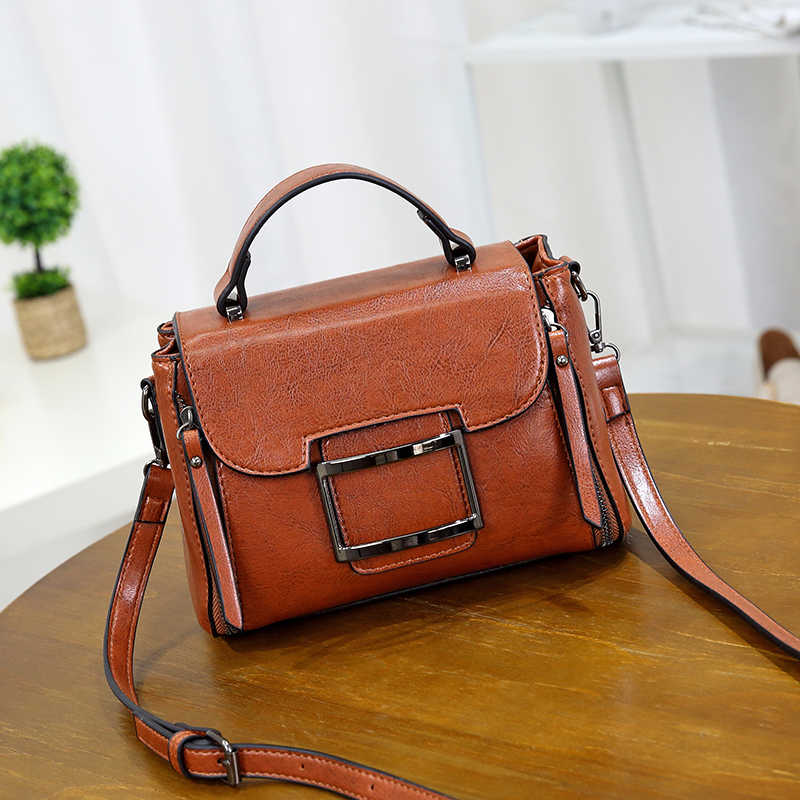 ea0455c49aab ... LYKANEFU 2018 NEW Wax PU Leather Women Messenger Bags Designer Handbag  Vintage Style Lady Purse Cross ...