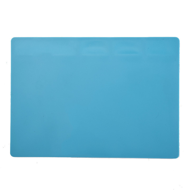 2 Size Heat-resistant Hot Gun BGA Soldering Station Repair Insulation Pad Soldering Mat Insulator Pad Maintenance Blue/white stainless steel pot holder hot pad heat insulation pad silver
