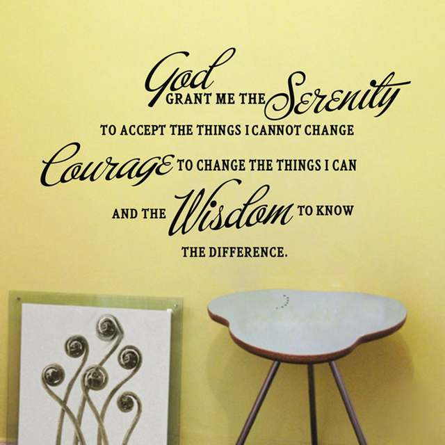 God grant me the wisdom to know..Classic famous sayings Vinyl Wall ...