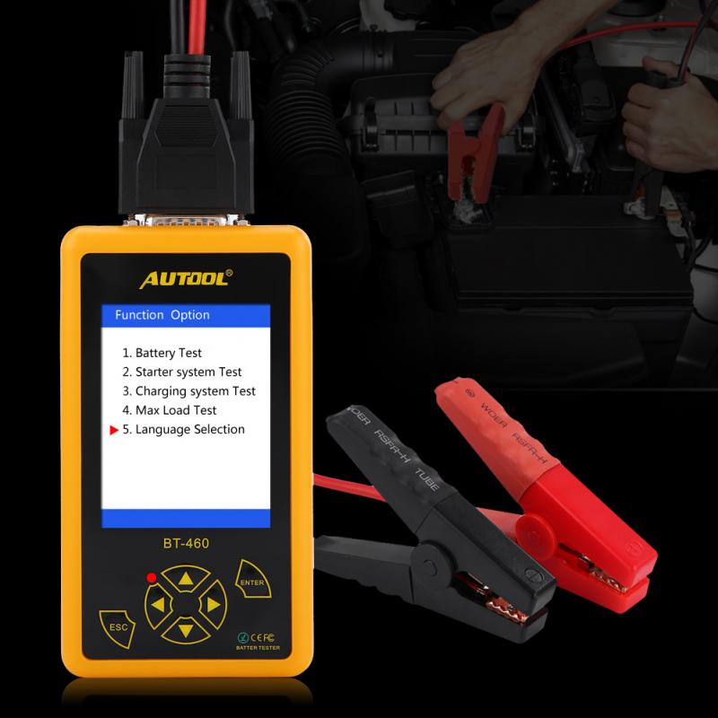 Car Battery Tester 4 Inch TFT Colorful Display Car Battery Tester Analyzer Fit for 12V Vehicle 24V Heavy Duty Trucks