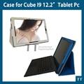 """Para cube i9 caso capa novo e de alta qualidade PU caso capa protetora para cube i9 cubo iwork12 12.2 """" Tablet + 3 presentes"""