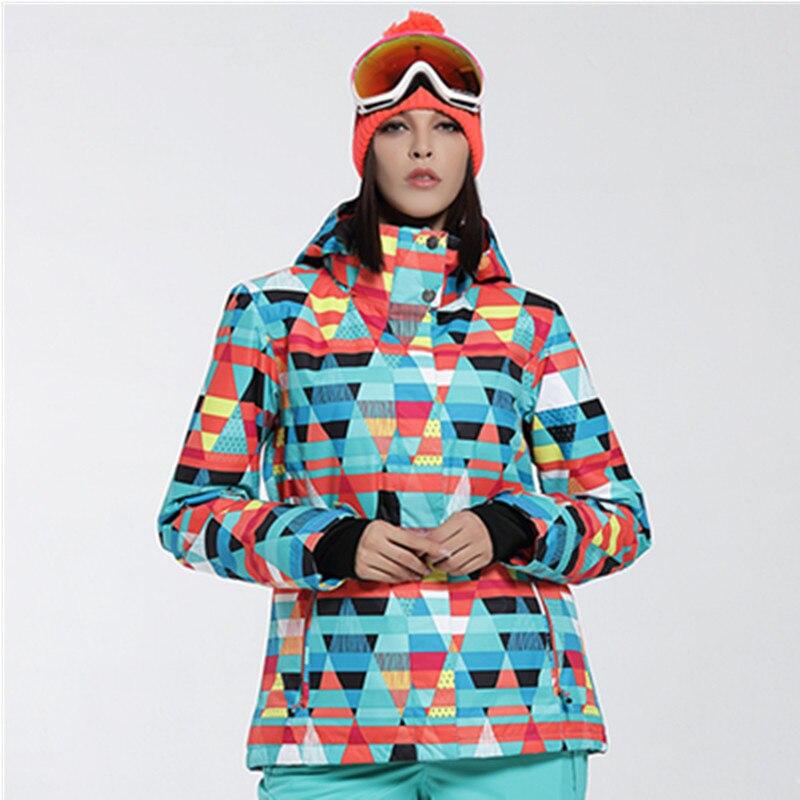 New winter ski jacket women snowboard jacket womens ski suits warm waterproof snow skiing clothes veste de ski femme 2016 gsou russia winter ski jacket women snowboard jacket womens veste ski femme thick warm esqui skiwear 30 degree