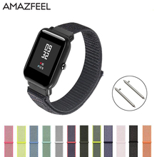 Nylon Loop Strap For Xiaomi Amazfit Bip Strap Watch Band For Huawei Watch GT Honor Magic Huami Amazfit Pace Stratos 2 Bracelet