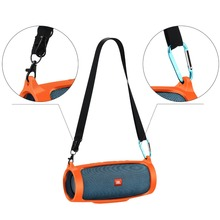 Travel Silicone Cover Case for JBL Charge 4 Chareg4  Wireless Bluetooth Speaker with Removable Shoulder Strap