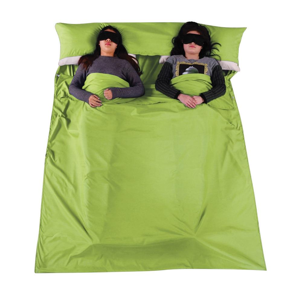 Cotton Separator Sleeping Bag Liner Single Double Envelope Bags Ultra-Light Portable Travel Hotel Camping Equipment