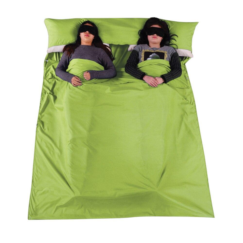 Camp Sleeping Gear El Dirty Cotton Separator Sleeping Bag Liner Single Envelope Bags Ultra-light Portable Travel Camping Equipment