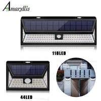 Solar Lichter Im Freien Super-Helle 118/44 LED Motion Sensor Licht mit 3 Modi Solar Lampe für Garten Patio Hinterhof