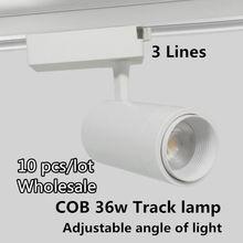 10 шт/лот cob 36 Вт Светодиодный светильник алюминиевый 3 линии