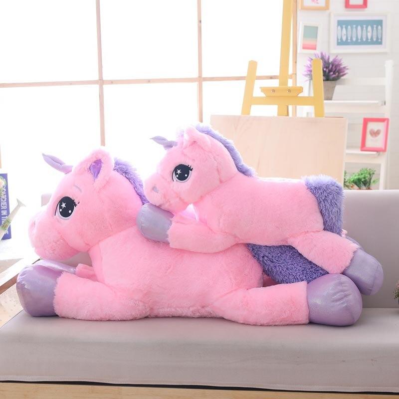 New Arrival 80cm 110cm Unicorn Plush Toy Pink White Big Plush Animal