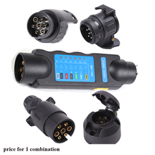 7  to 13 pin adapter 7 way trailer towing light tester 7 pin trailer plug socket 13 pin to 7 pin socket connector