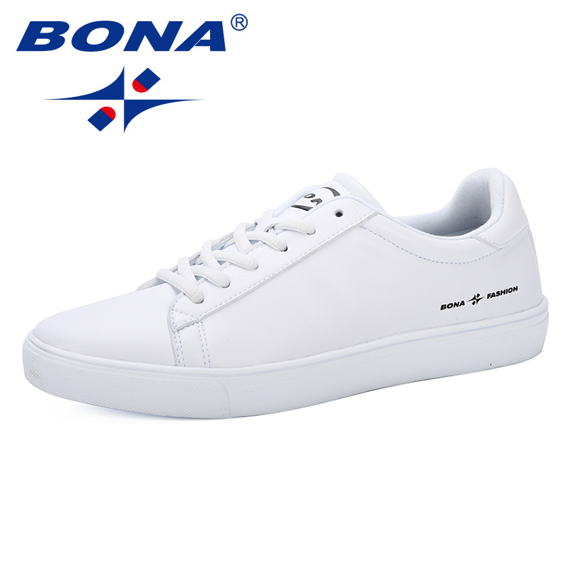 BONA 2019 New Classics Style Lace Up Men Flats Male Casual Shoes Men Footwear Students Loafers Plus Size Chaussure Homme Comfy