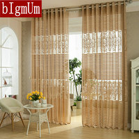 New Arrival Fashion Window Screening Stripe Tulle For Curtain Luxury Sheer Curtains For The Bedroom Living