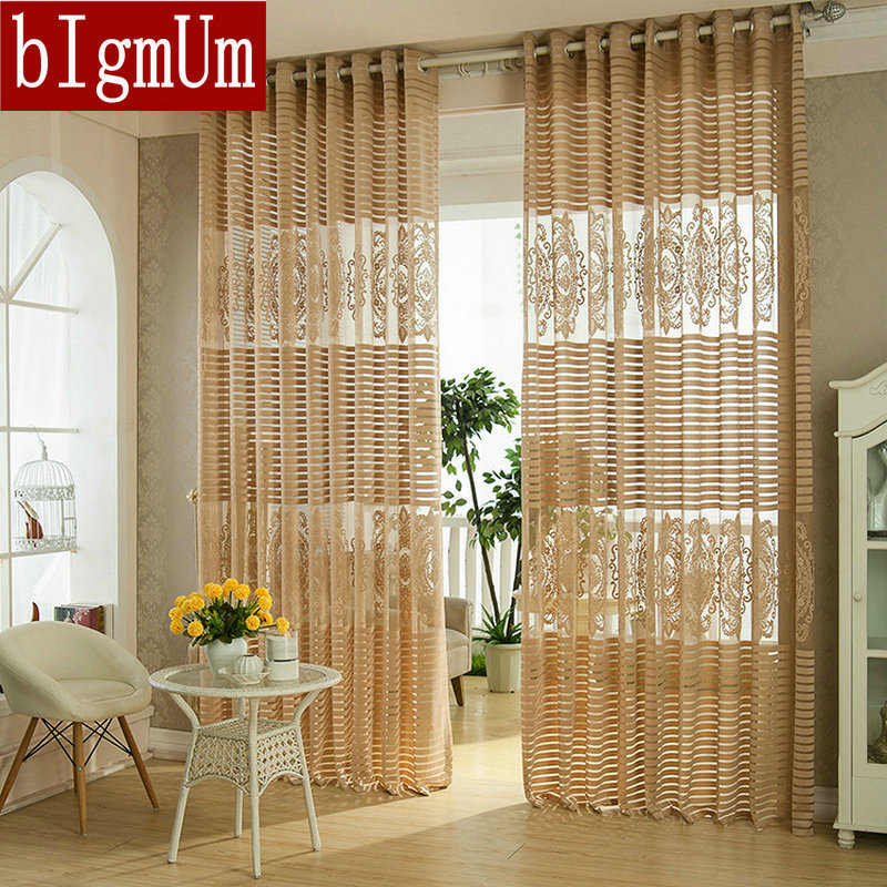 New arrival fashion window screening stripe tulle for Latest window treatments