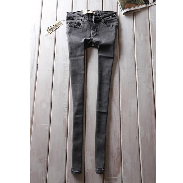 9b7073ca NINE FERRY 2014 fashion womens skinny jeans grey pencil pants for women
