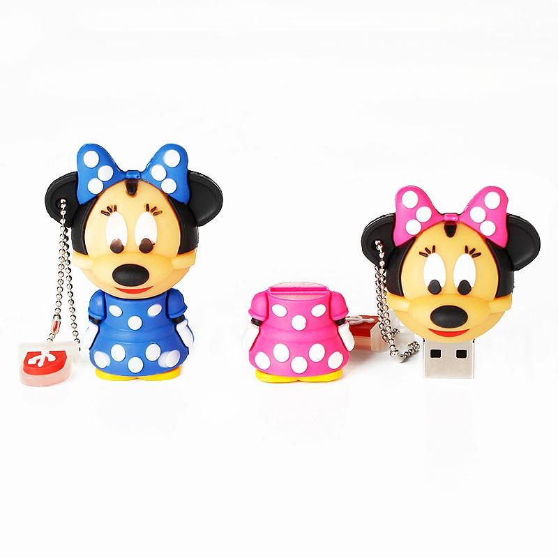 Image 5 - Cute Mickey&Minnie Usb Flash Drive 4GB 8GB 16GB Popular Pen Drive 32GB 64GB 128GB Pendrive U Disk 2.0 Cartoon Gift Free Shipping-in USB Flash Drives from Computer & Office
