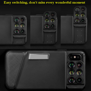 Image 3 - Bluetooth Phone Case Kit Camera Lens For IPhone X 6 in 1 Fisheye Wide Angle Macro Lens For iPhone X 10 Telescope Zoom Lenses
