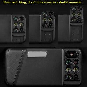 Image 3 - 블루투스 전화 케이스 키트 카메라 렌즈 아이폰 X 6 1 Fisheye 와이드 앵글 매크로 렌즈 아이폰 X 10 망원경 줌 렌즈