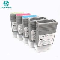 TINTENMEER wkład atramentowy PFI 102 pfi 102 pełny zestaw kompatybilny dla canon iPF500 iPF510 iPF600 iPF605 iPF610 iPF700 iPF710 drukarki w Tusze do drukarek od Komputer i biuro na