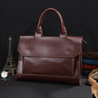 Shoulder Handbag Men S Casual Genuine Leather Business Bag Briefcase For 14 Or 15 6 Inch