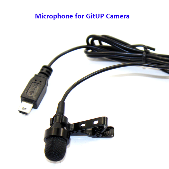 Original External Microphone for GIITUP GIT1/GIT2/G3/F1/Git2P/G3 Duo Wifi Sport Action Camera