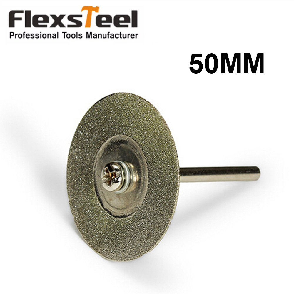 1Pc 50MM Diamond Cutting Disc With Mandrel For Rotory Tools Accessories Mini Saw Blade Grinding Wheel Set Wheel Circular Saw
