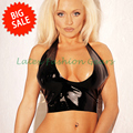 New arrival big sale  mould black latex vest  female sexy rubber tops club fetish exotic costumes