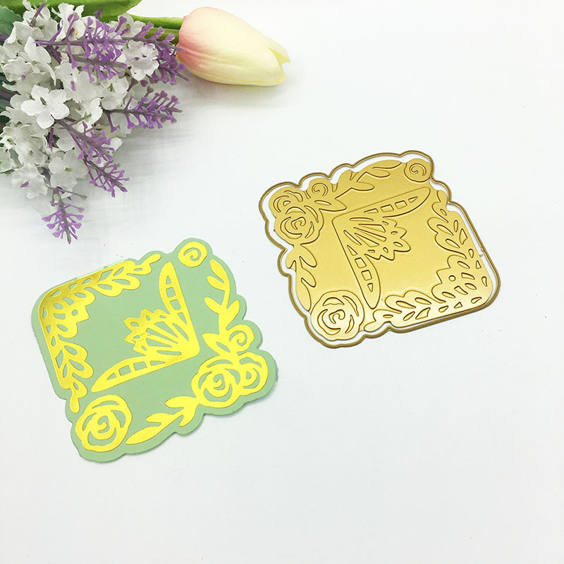 Julyarts Hot Foil Plate Lace Flower Leaf Metal Cutting Die For Scrapbooking Stencils Stamping Photo Album Card Die Cut Craft Die in Cutting Dies from Home Garden