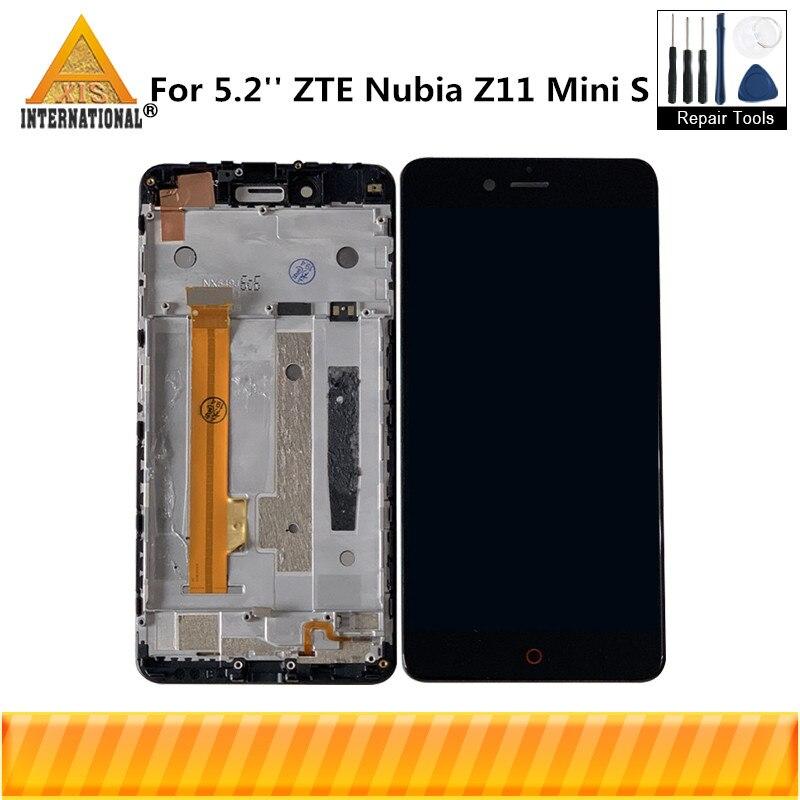 Original For 5.2 ZTE Nubia Z11 Mini S Z11 MiniS NX549J Axisinternational LCD Display Screen With Frame+Touch Panel DigitizerOriginal For 5.2 ZTE Nubia Z11 Mini S Z11 MiniS NX549J Axisinternational LCD Display Screen With Frame+Touch Panel Digitizer