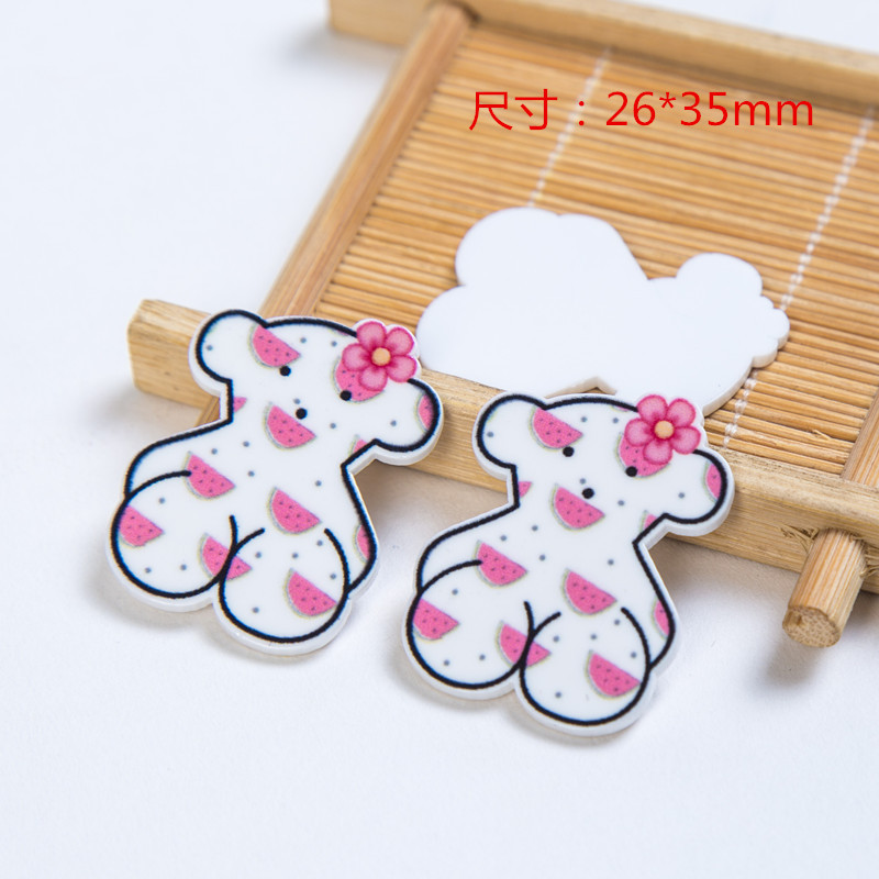 10 Pcs/lot Bear Cartoon Flat Back Planar Resin DIY Resin Cabochons Accessories For Diy Mobile Phone Case Headband Hair Bow