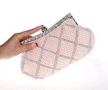 Shinny Abend Handtaschen Silber Schwarz Party Geldbörse Braut Handtasche Perle Perlen Handtasche Mode Strass Taschen SMYCWL-E0036