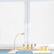 60*200cm Fashion Self-Adhesive Window Film Frosted White Stripe Glass Sliding Door Bath Shutters New Stickers