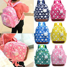 Printing Nylon Children Backpacks Kids Kindergarten School Bags Baby Boys Girls Nursery Toddler Cute Rucksack
