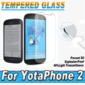 100pcs/lot 0.26MM 2.5D Explosion Proof Film Tempered Glass Screen Protector Protective Film For YotaPhone 2 Toughened Glass