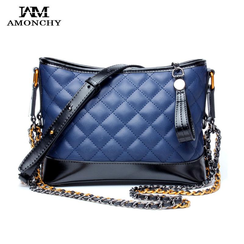 New Arrival Designer Brand Women Bags Fashion Chains Ladies Genuine Leather Handbags Diamond Lattice Shoulder Messenger Bag Sacs