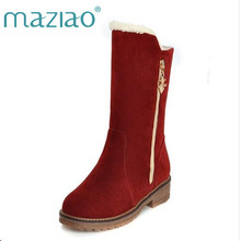 8d6a038676 MAZIAOTop quality winter boots for women flats warm snow boots female  fashion ladies winter shoes short
