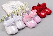baby girls shoes newborn white pink red floral infant prewalkers little crib christenning wedding mary jane SQ