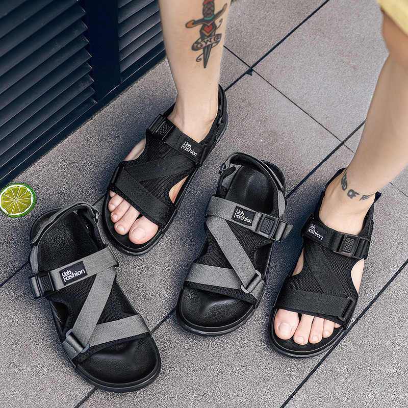 2c7188162b360 Fashion Man Beach Sandals 2018 Summer Shoes Gladiator Men s Sandals Roman Men  Casual Shoe Flip Flops