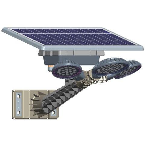 nova energia solar integrado luz de rua de luz de controle remoto controle de cronometragem
