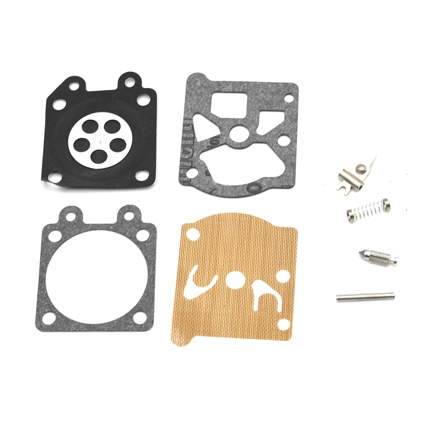 5 Set Walbro Carburetor Carb Repair Diaphragm Kit For STIHL MS 180 170 MS180 MS170 018 017 Chainsaw Replacement Parts 38mm cylinder piston rings needle bearing kit for stihl ms180 ms 180 018 chainsaw