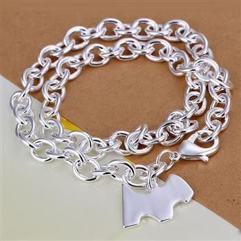 XLN241 Wholesale silver plated Necklace, Factory price 925 ...